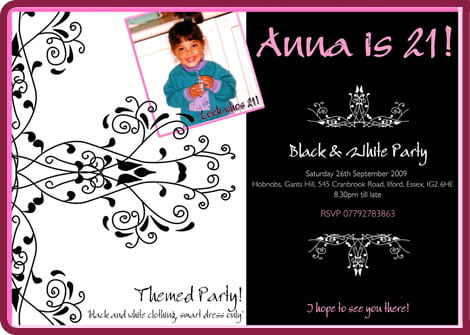 St Birthday Invitation Templates Free Printable Th Birthday