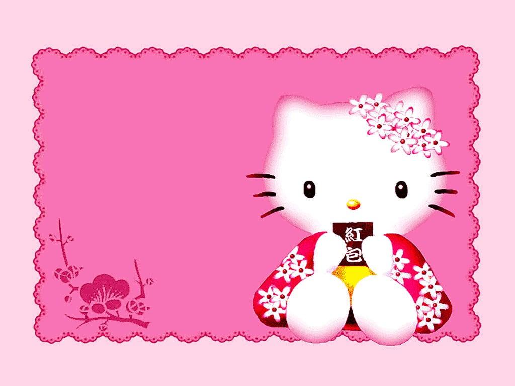 Invitation Baptism Hello Kitty