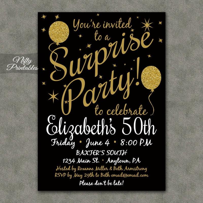 Surprise Luxury Surprise 60 Birthday Party Invitations