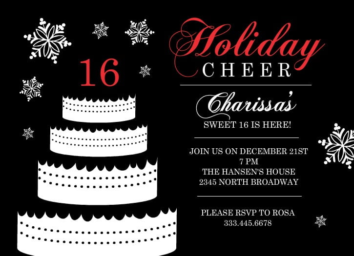 Sweet Marvelous Sweet 16 Party Invitation Templates Free