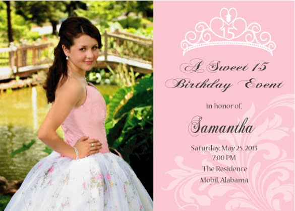 Sweet Or Quinceanera Invitation Printable Double Sided Ideal