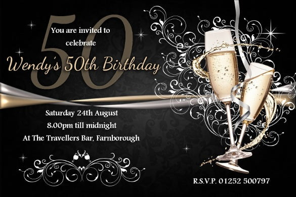 Download Now Free Th Beautiful Surprise 50th Birthday Invitation
