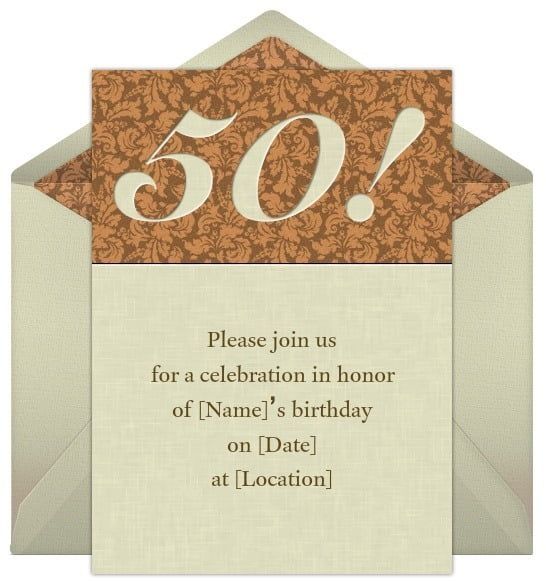 Th Birthday Invitation Inspirational Invitations For 50th Birthday
