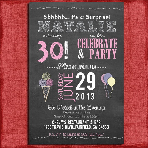 Surprise Th Birthday Invitations Together With To Prepare Stunning