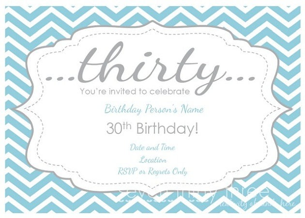 Th Birthday Invite Fabulous 30th Birthday Invitation Templates