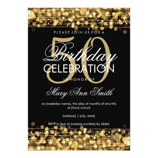 Th Invitations Best 50th Birthday Invitations For A Man