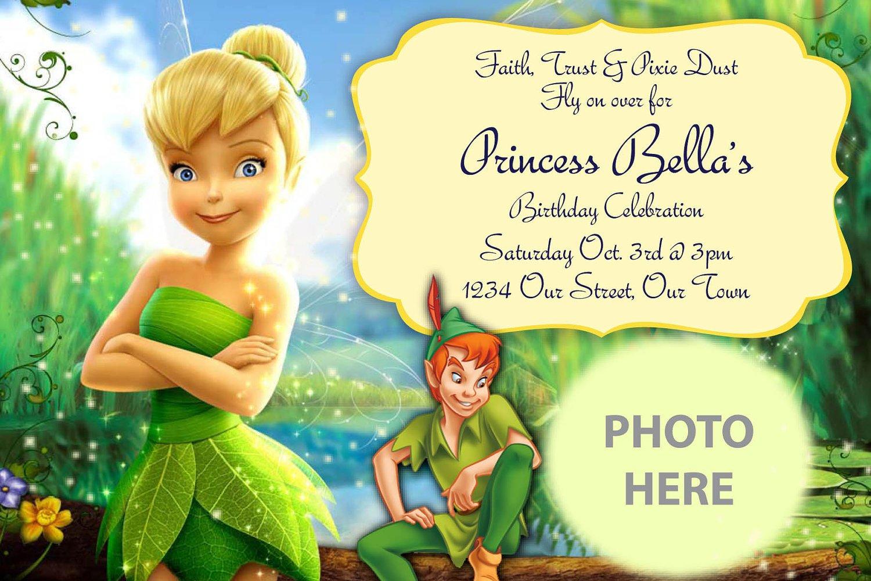 Tinkerbell Birthday Invitations Tinkerbell Birthday Invitations