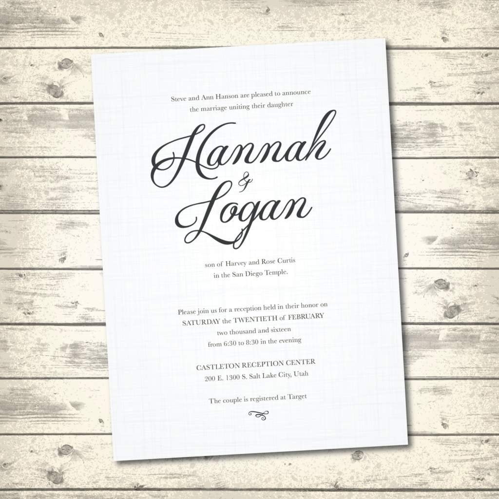 Wedding Ideas  Traditional Wedding Invitation Wording