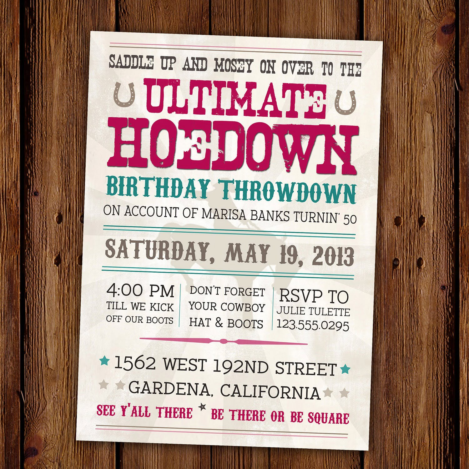 Western Birthday Invitations Lovely Western Birthday Invitations