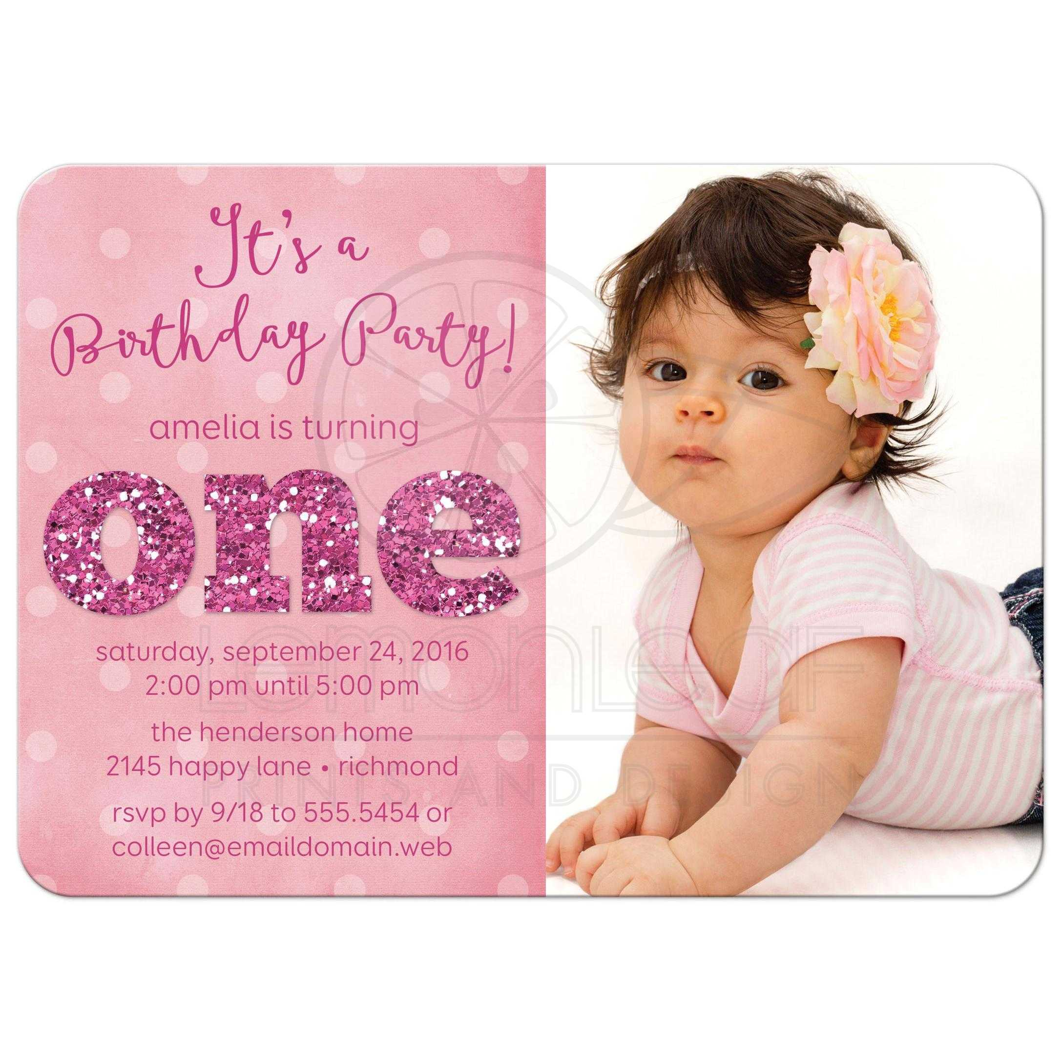 Year Old Birthday Invitations Marvelous 1 Year Old Birthday Party