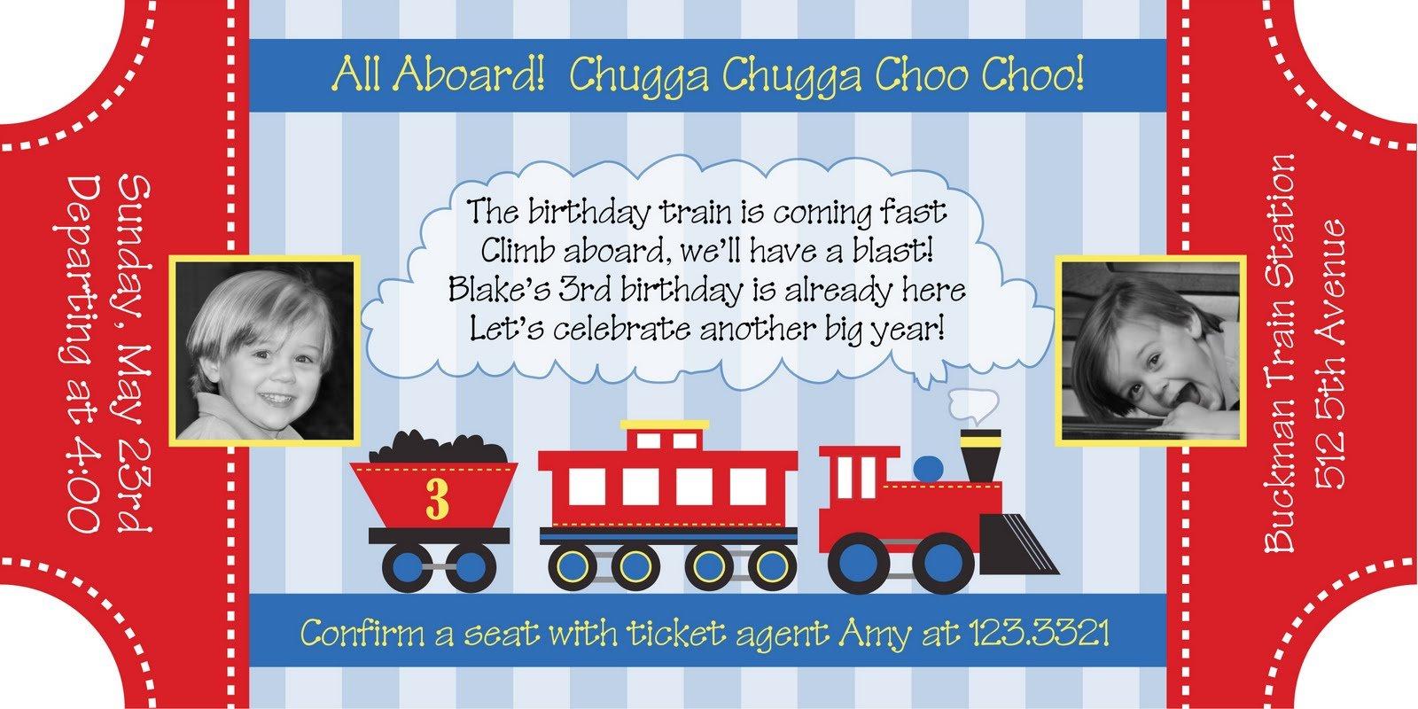 All Aboard The Choo Choo Train Party