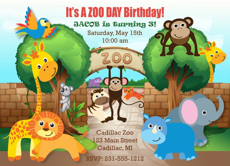 Zoo Birthday Invitations Zoo Birthday Invitations For Invitations