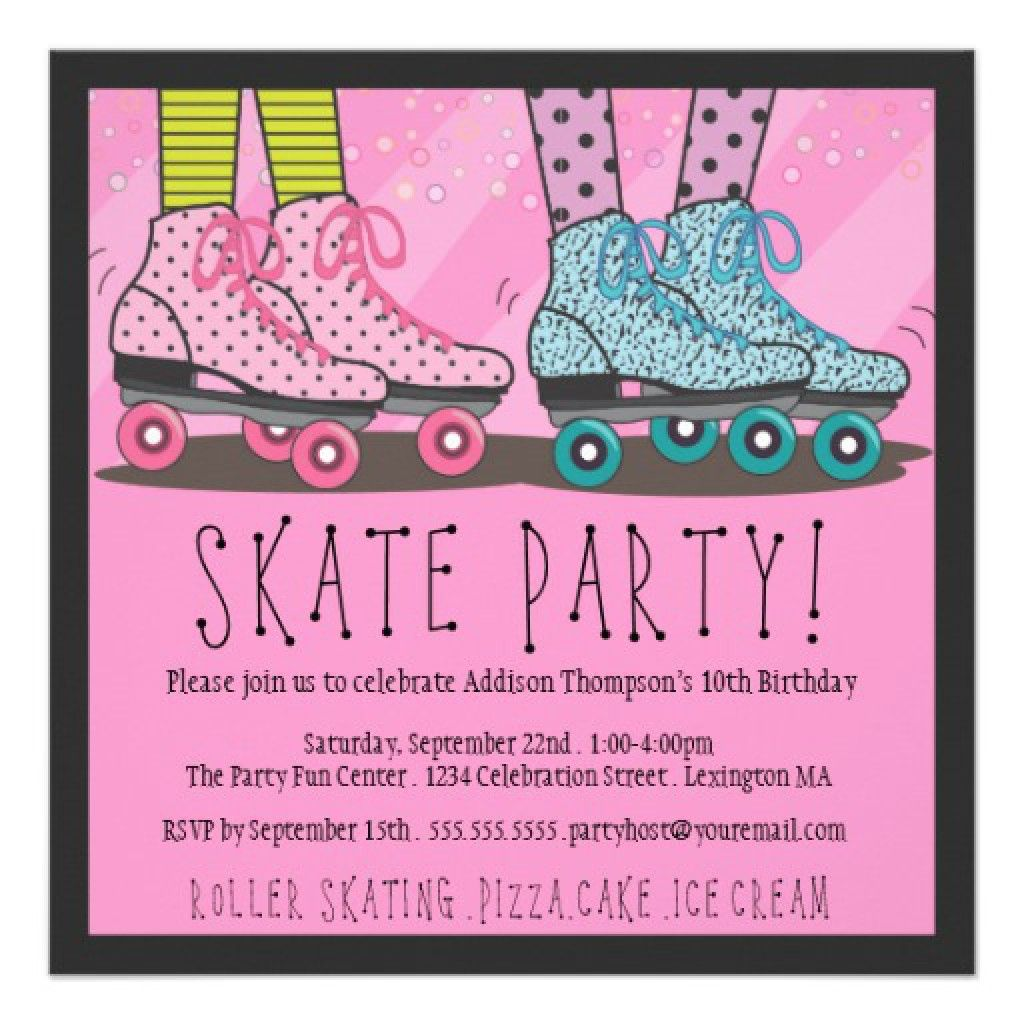 Free Roller Skate Invitation Template