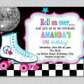 Roller Skate Disco Party Invitation Free Download