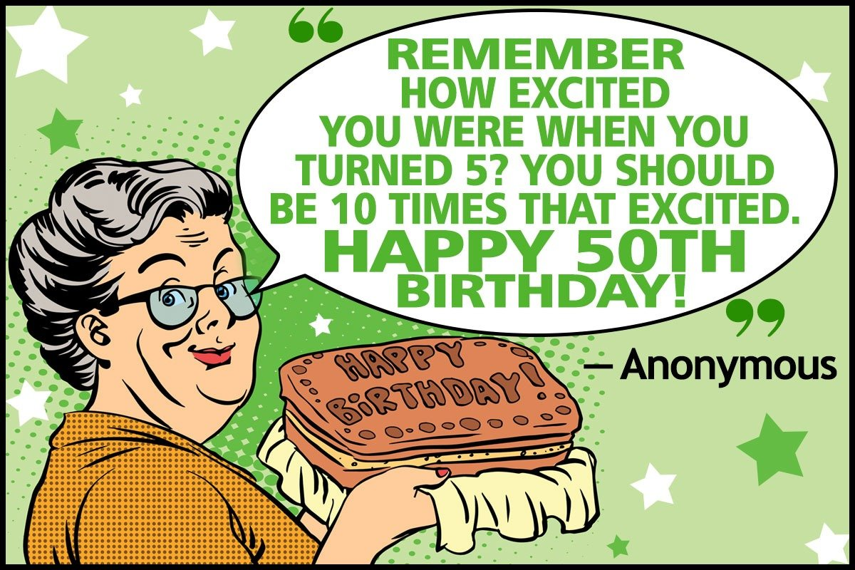 Funny 50th Birthday Quotes And Sayings For Your Golden Year