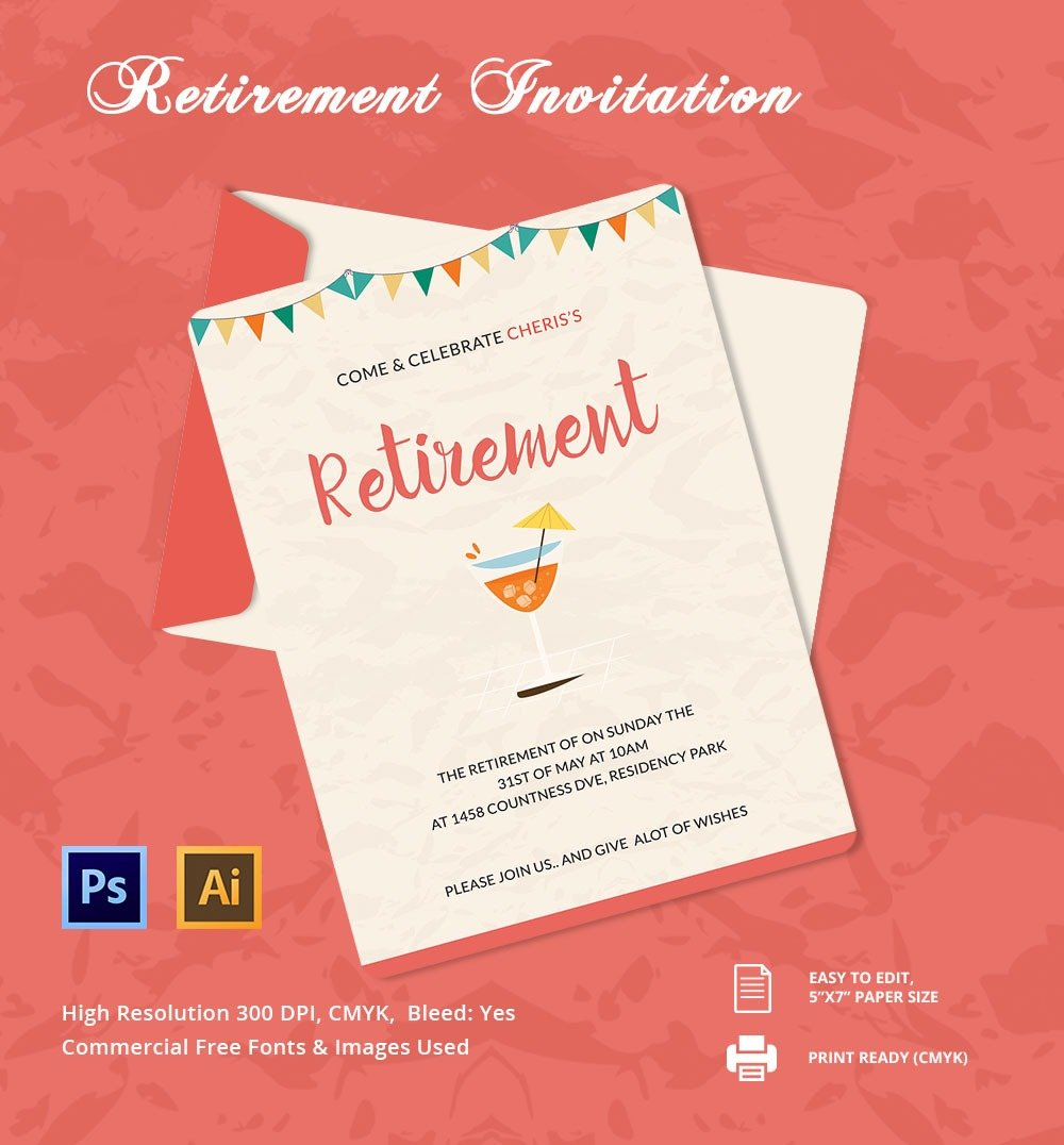15 Retirement Invitation Templates Free Sample Example Format
