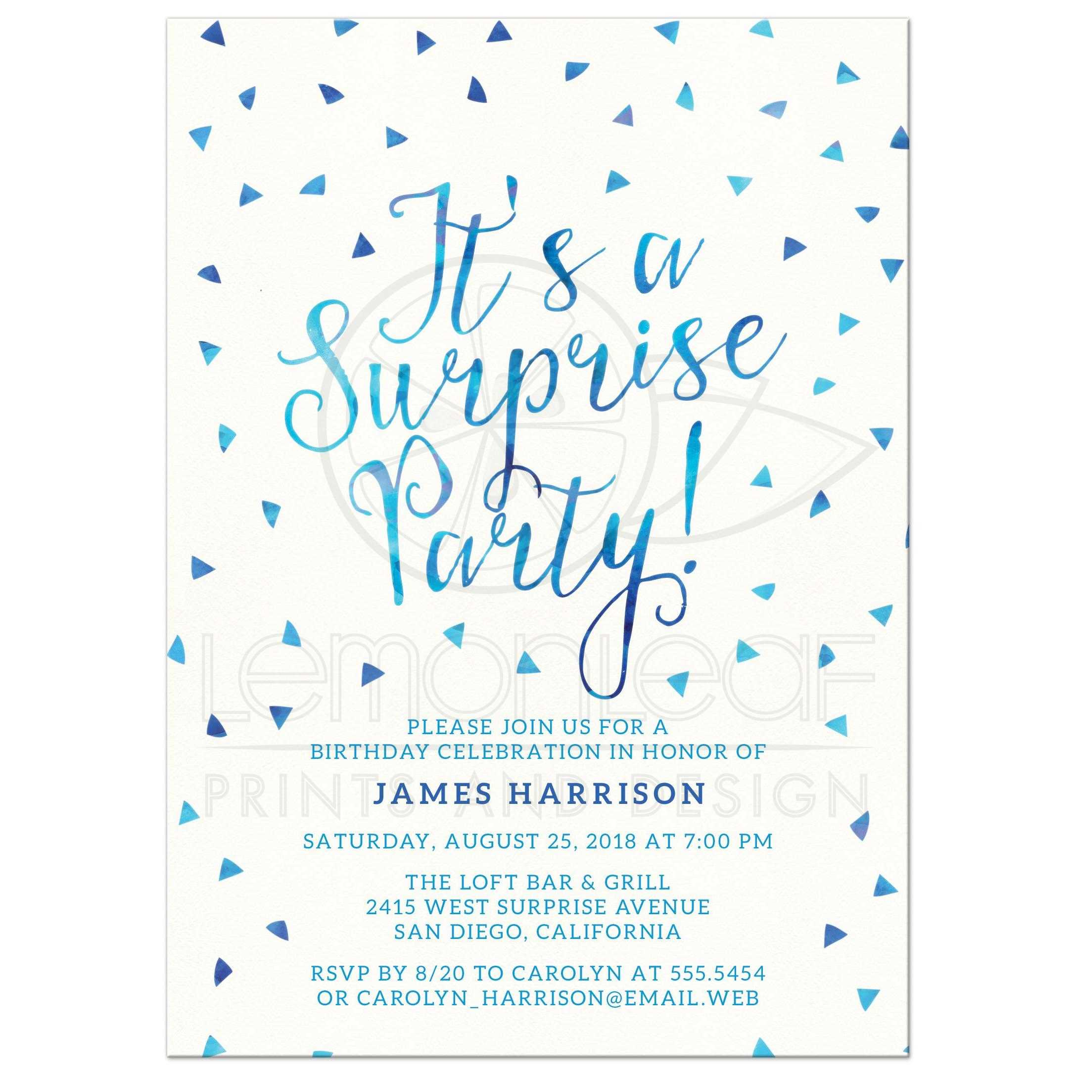 Surprise Party Invites