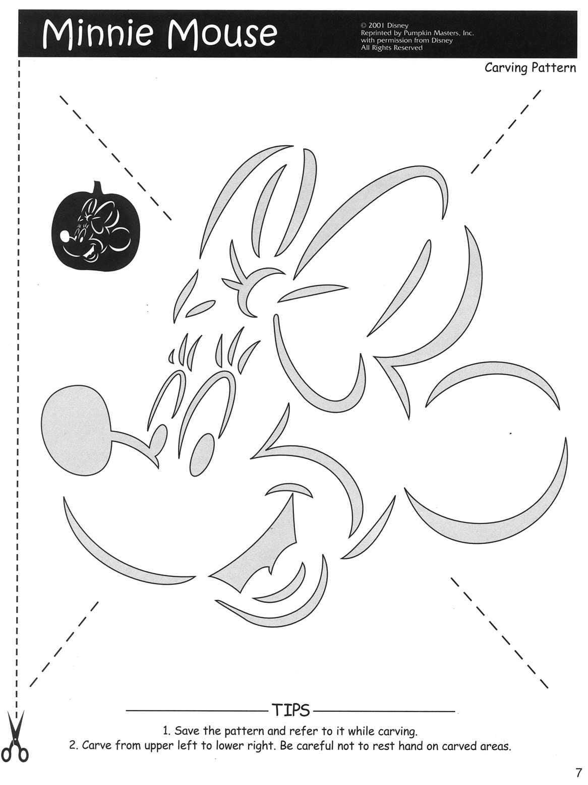 100+ Free Disney Halloween Pumpkin Carving Stencil Templates W