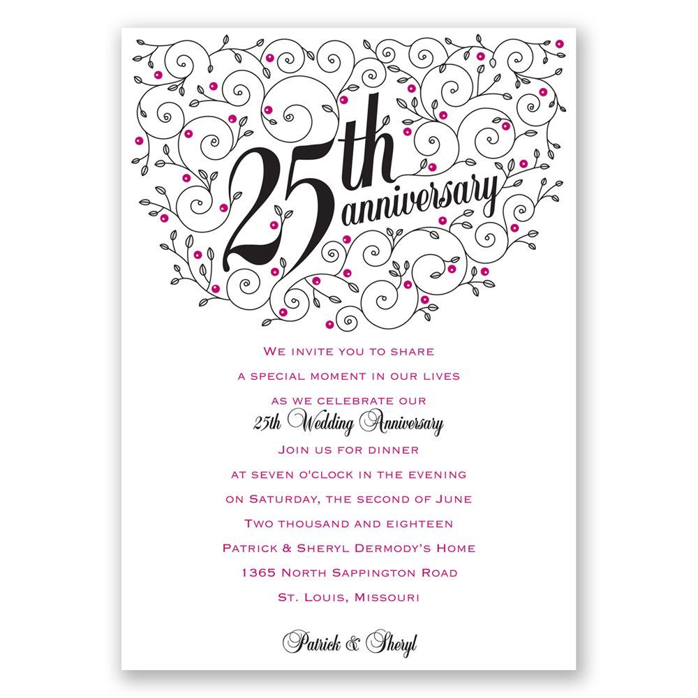 25th Wedding Anniversary Invitations Wording ~ Wedding Invitation