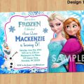 Sample Invitation For 7th Birthday Frozen