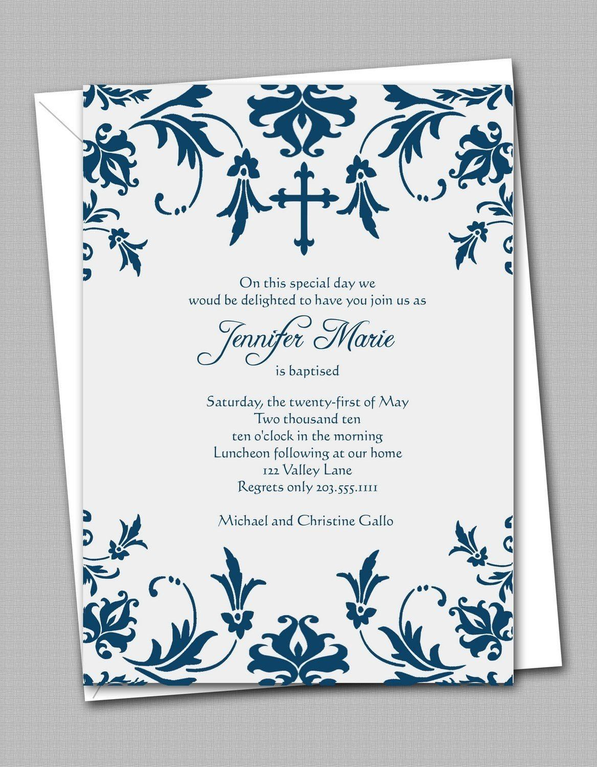 Free Printable Confirmation Invitation Templates