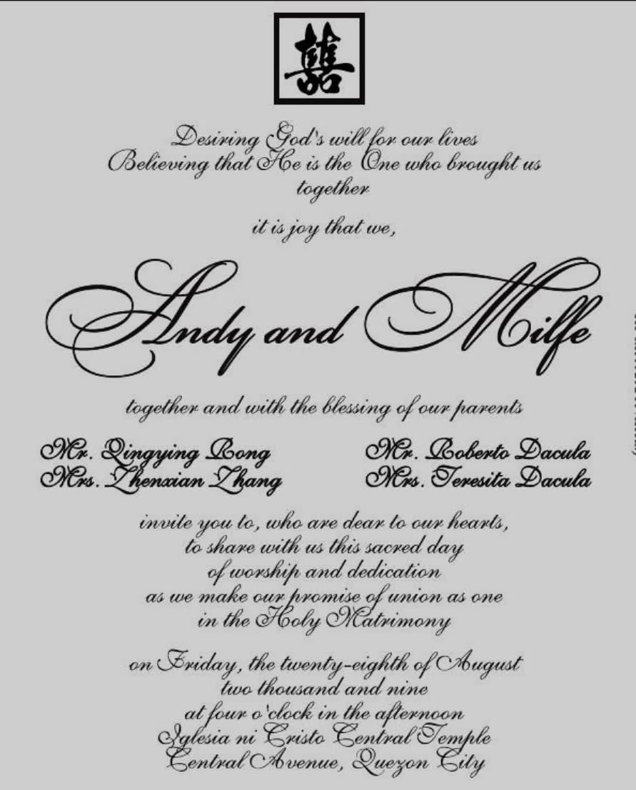 The Best Wedding Invitation Blog  Sample Of Wedding Invitations In