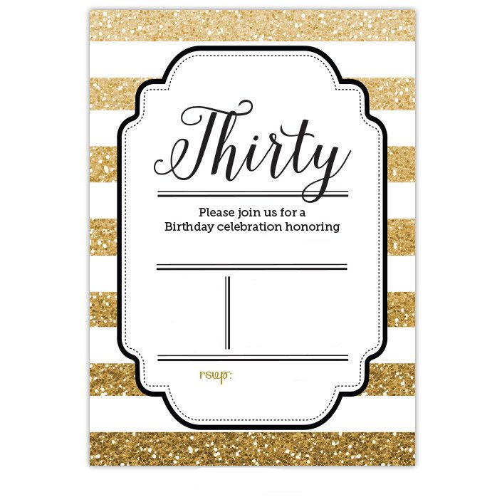 30th Birthday Invitation Templates Free Trend With 30th Birthday