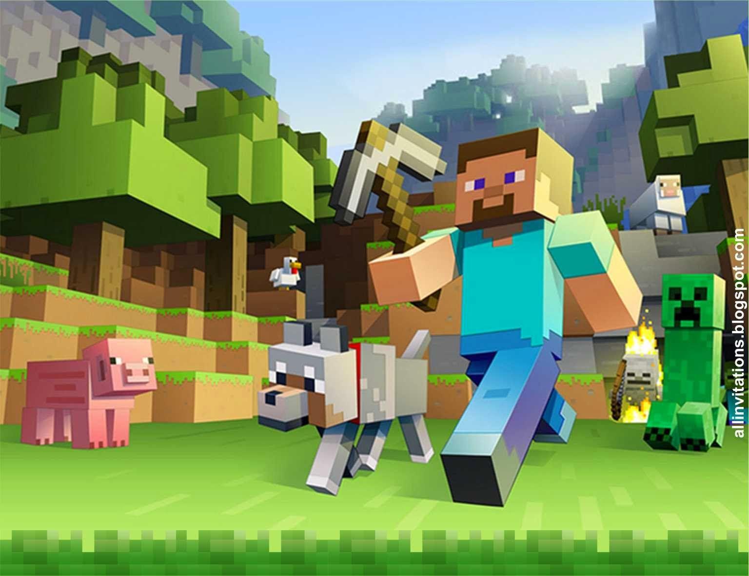 Invitación Minecraft