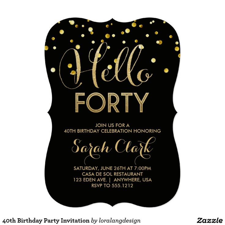 40th Birthday Invitations 40th Birthday Invitations By Means Of
