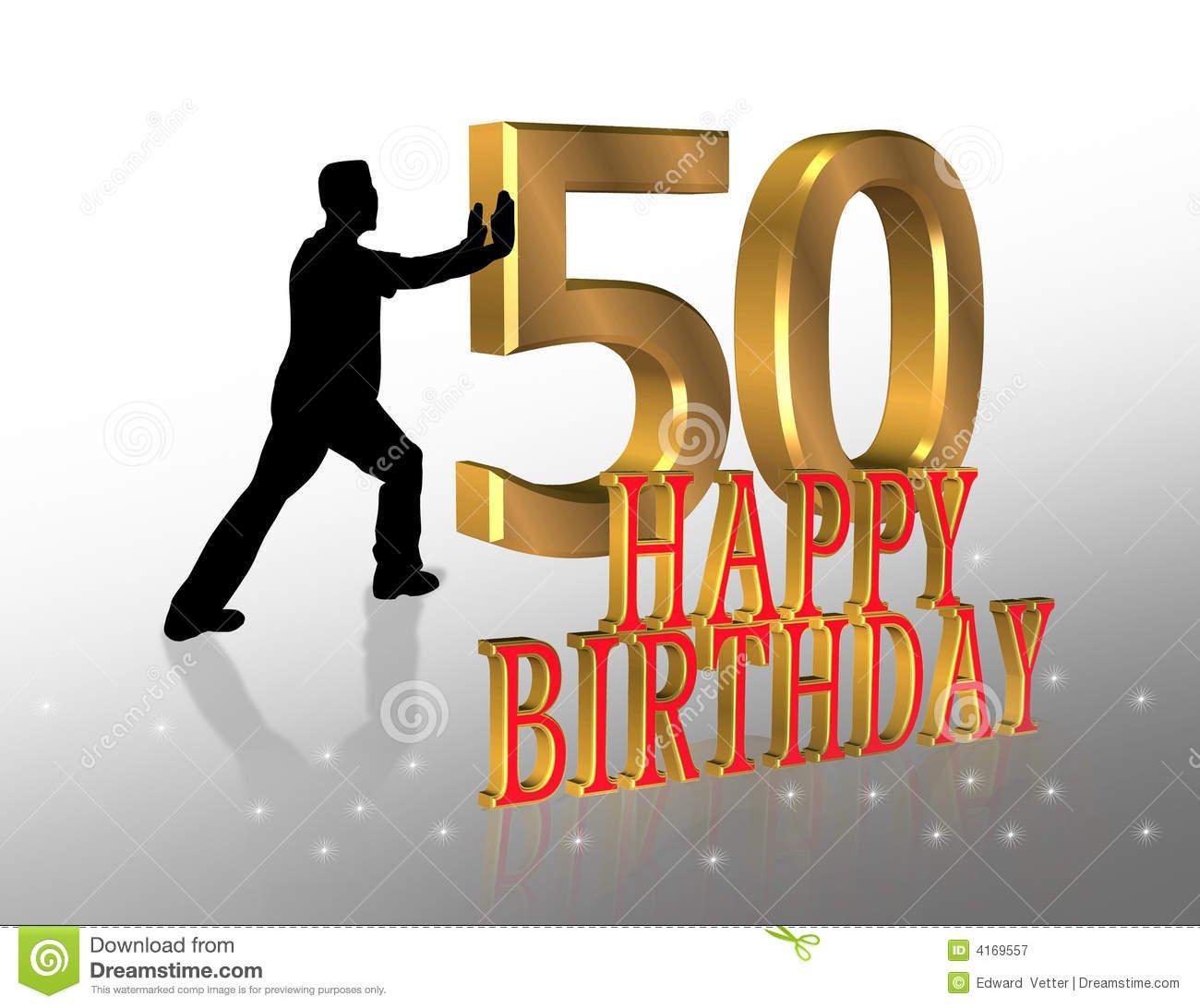 50th Birthday Invitation Card Stock Illustration