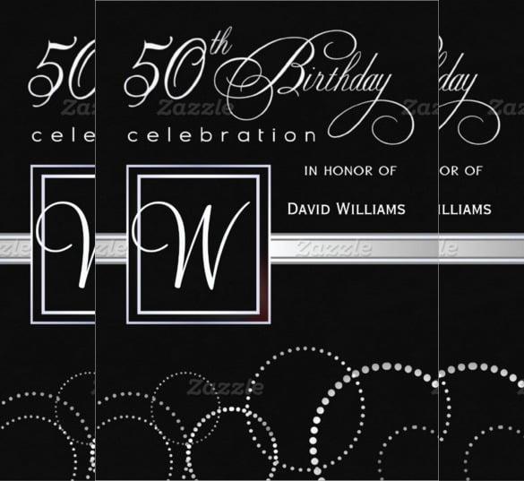 50th Birthday Invitation Templates Elegant With 50th Birthday
