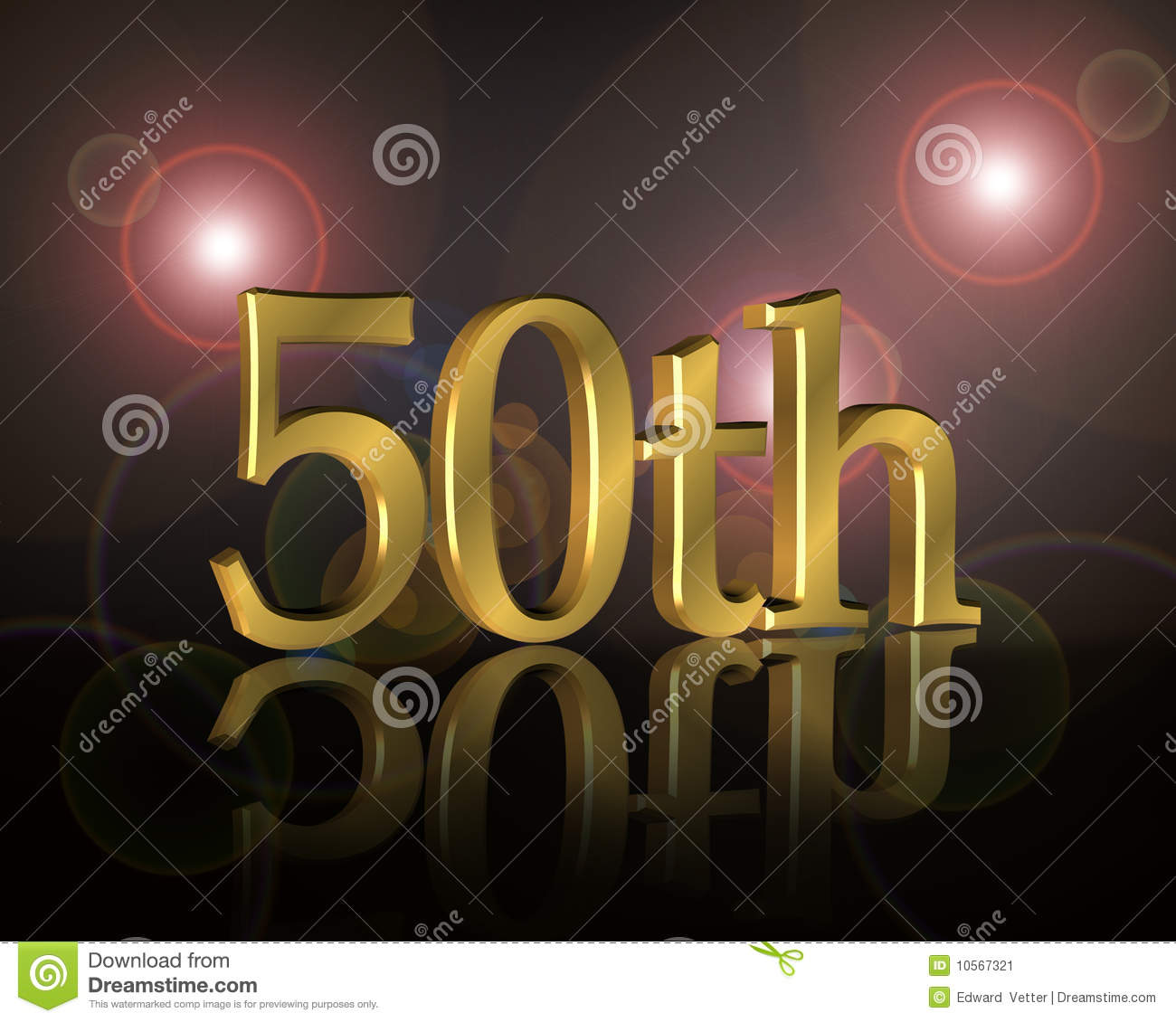 50th Birthday Party Invitation Stock Illustration