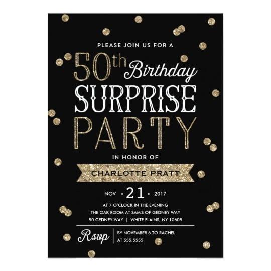 Surprise Party Invites