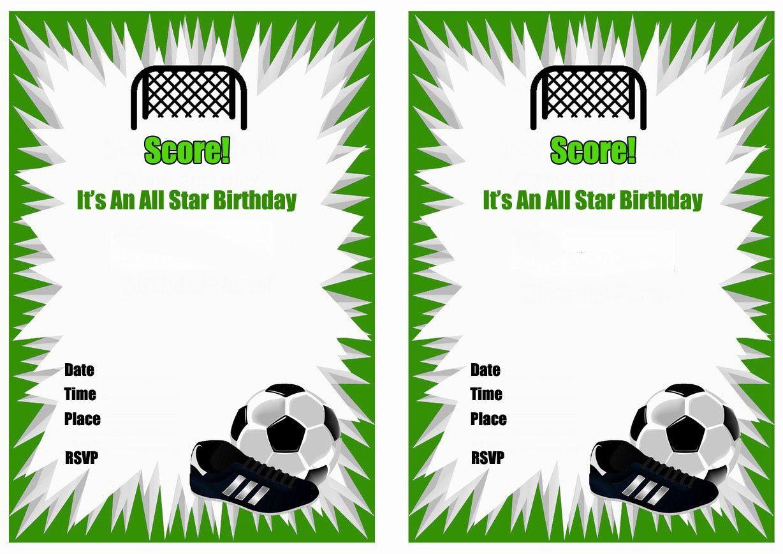 Free Printable Soccer Birthday Party Invitations
