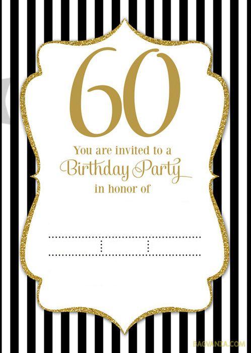 Invitation  60th Birthday Invitation Templates