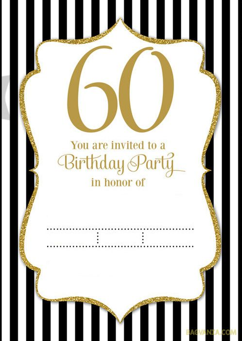 60th Birthday Invitation Templates Free Download Perfect With 60th