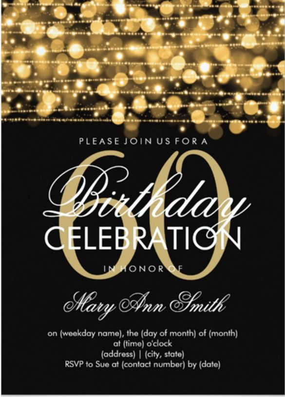 60th Birthday Invites Free Template Cute With 60th Birthday