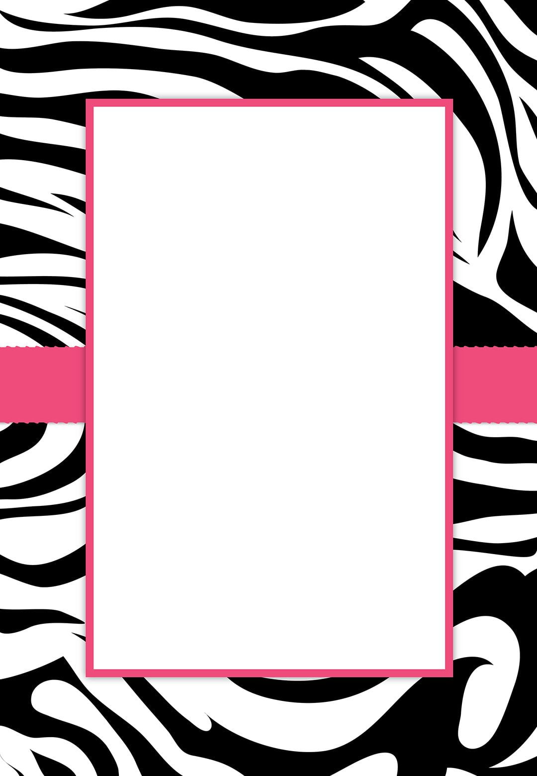 Free Printable Zebra Stripes Invitation  This Is Really A Great