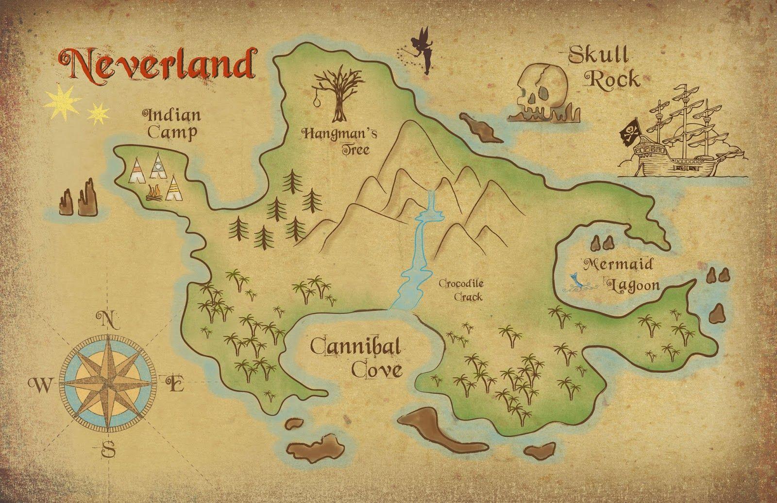 Neverland Map Printable