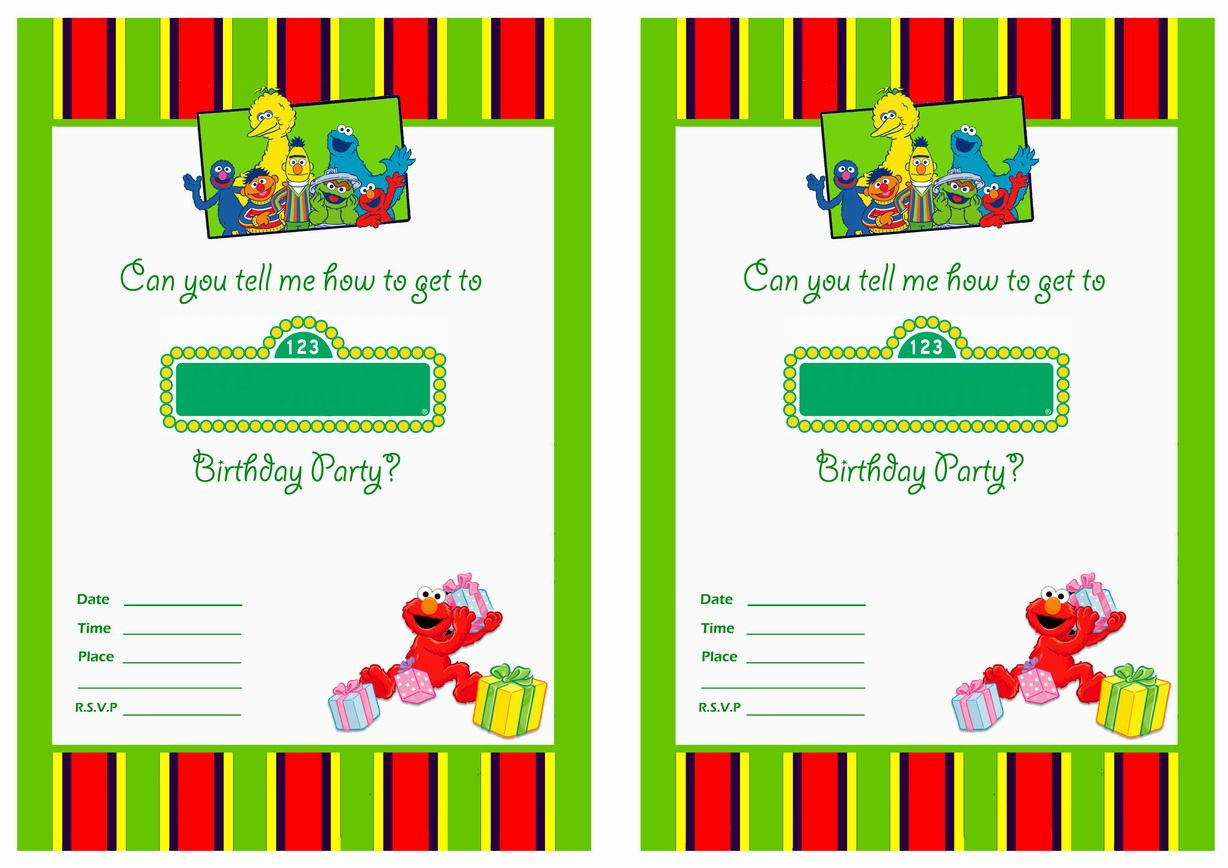 Get Free Printable Sesame Street 1st Birthday Invitations