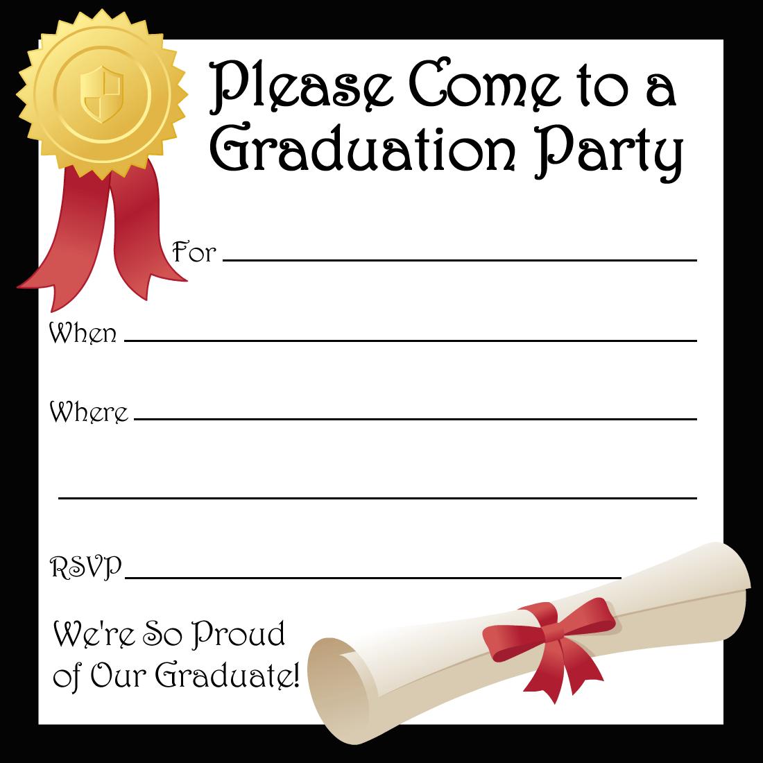 Free Printable Graduation Party Invitations