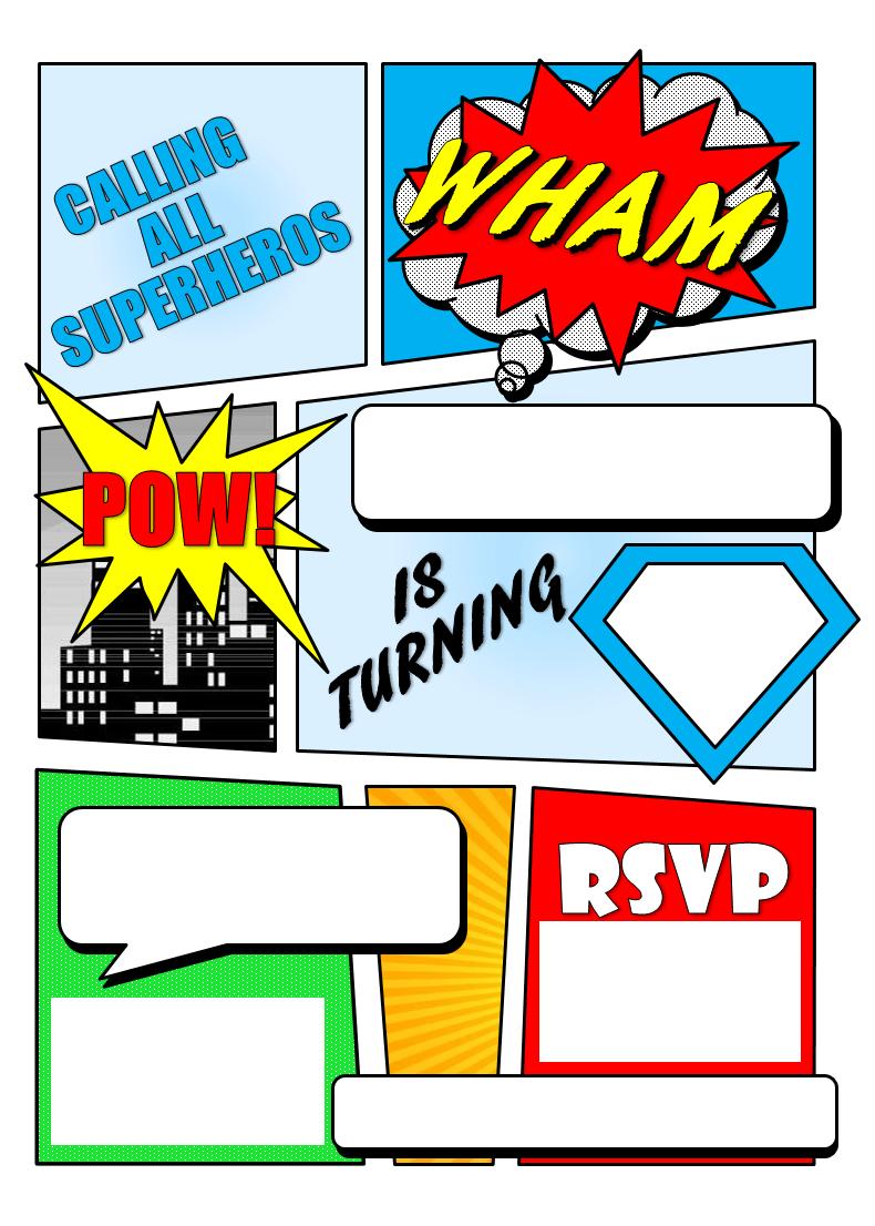 Make Your Own Comic Book Printable
