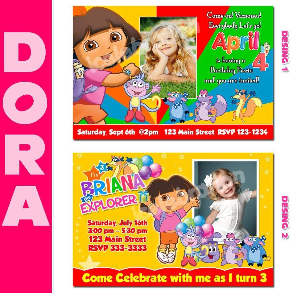 Dora Party Invitations Printable Free – Invitation Templates Word