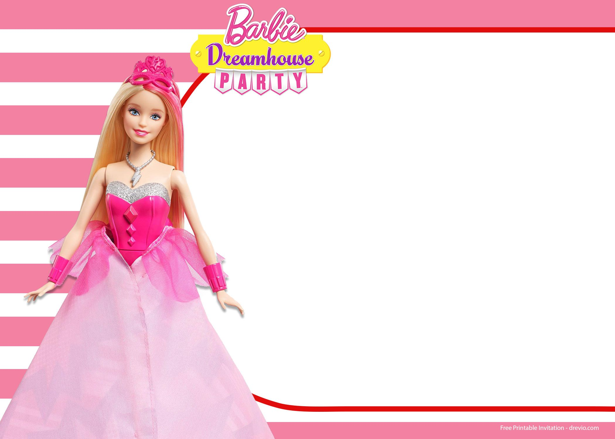 Acbbefccec Cool Free Barbie Invitation Templates