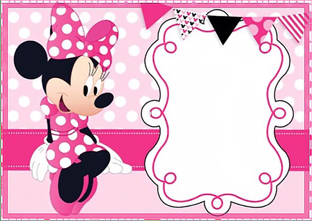 Invitation Ideas  Minnie Mouse Invitation Template