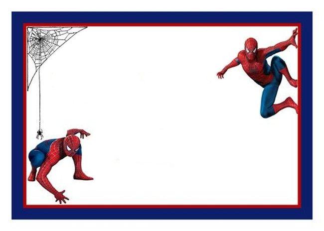 Aebbdbaccaa Beautiful Spiderman Birthday Invitation Template