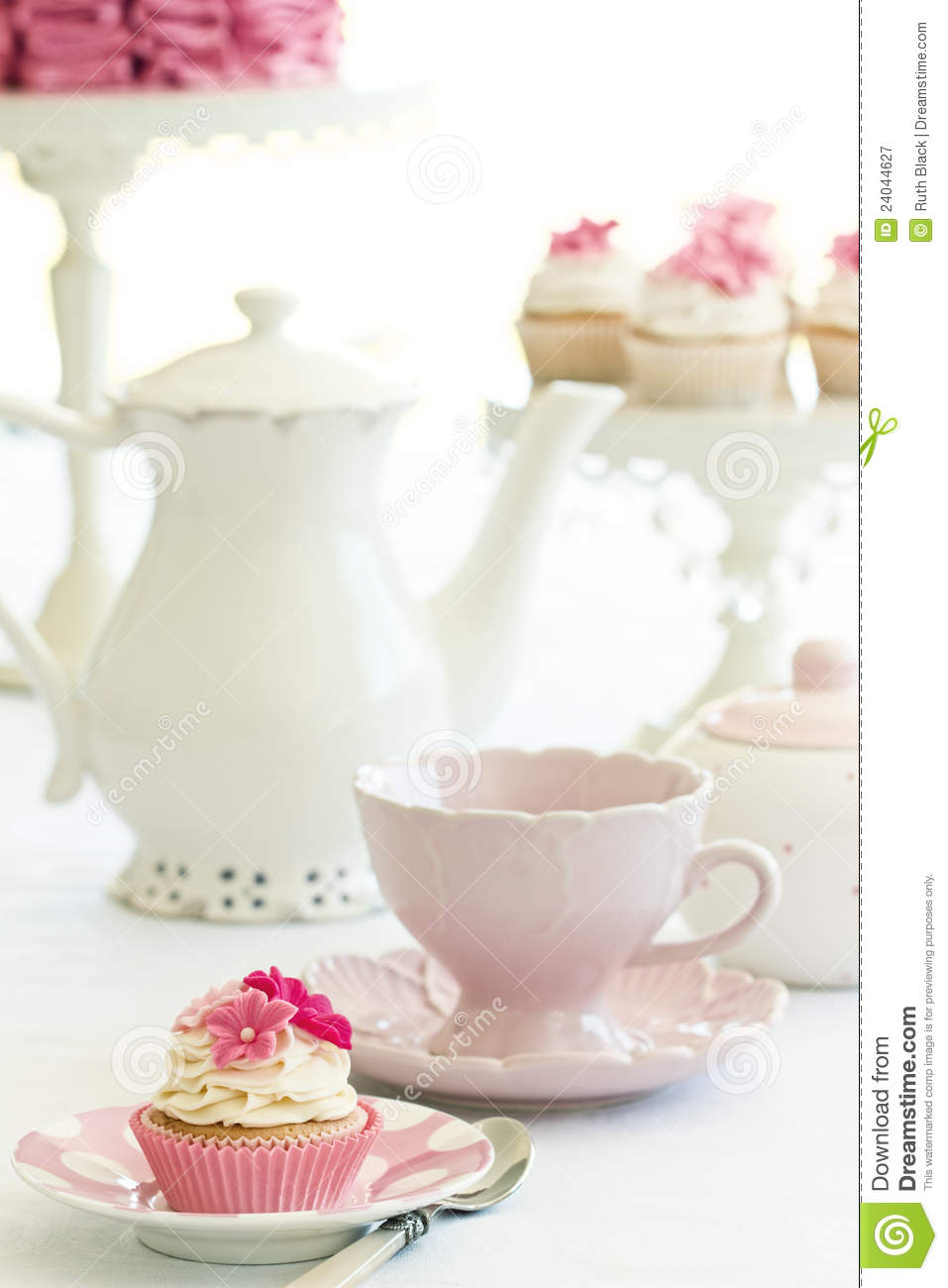 Afternoon Tea Stock Image  Image Of Shabby, Frosted, Summer