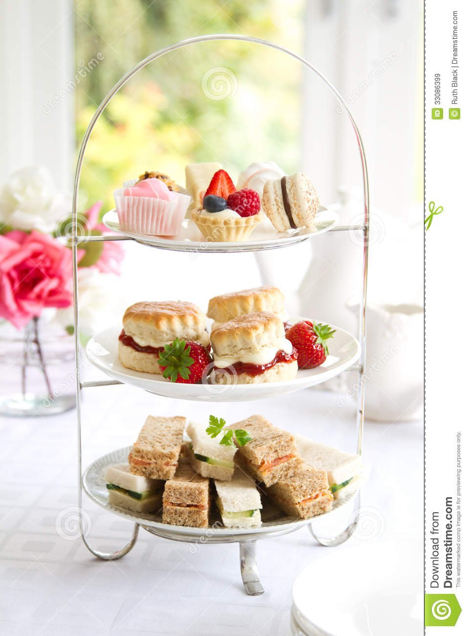 Afternoon Tea Stock Image  Image Of Fashioned, Cake, Dessert