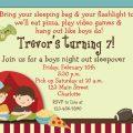 Printable Boys Sleepover Party Invitation