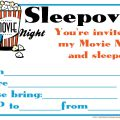 Party Movie Invatation Templates